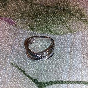 Kay jewelers black diamond sterling sliver ring